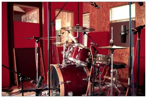 Frantz Conord's drumkit